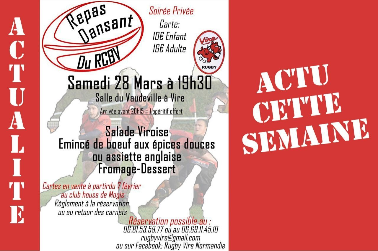 Vire : SOIREE RUGBY